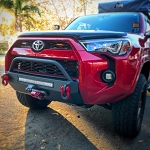 SSO 2014+ 4RUNNER SLIMLINE HYBRID FRONT BUMPER WITH 20? HEISE LED