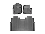 wt44697-1-2 WeatherTech 15 Ford F-150 (Supercrew Only) Rear FloorLiners - Black