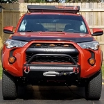 SSO 2014+ 4RUNNER SLIMLINE HYBRID FRONT BUMPER WITH 30? HEISE LED