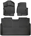 hl94041 Husky Liners 15-19 F-150 SuperCrew Weatherbeater Black Front & 2nd Seat Floor Liners